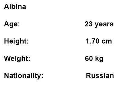 russian escort albina info