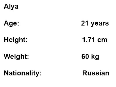 russian escort alya info